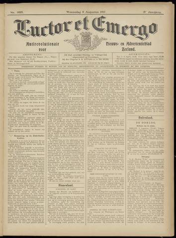 Luctor et Emergo. Antirevolutionair nieuws- en advertentieblad voor Zeeland / Zeeuwsch-Vlaanderen. Orgaan ter verspreiding van de christelijke beginselen in Zeeuwsch-Vlaanderen 1917-08-08