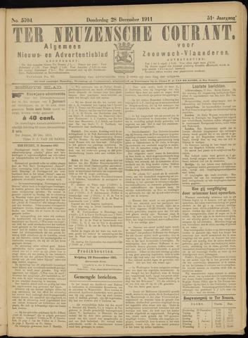 Ter Neuzensche Courant. Algemeen Nieuws- en Advertentieblad voor Zeeuwsch-Vlaanderen / Neuzensche Courant ... (idem) / (Algemeen) nieuws en advertentieblad voor Zeeuwsch-Vlaanderen 1911-12-28