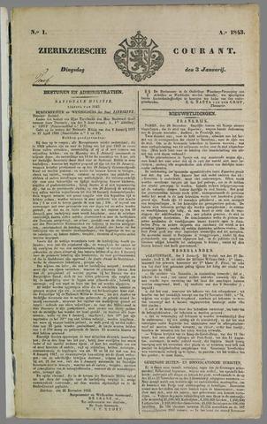 Zierikzeesche Courant 1843