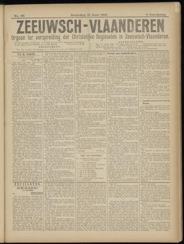 Luctor et Emergo. Antirevolutionair nieuws- en advertentieblad voor Zeeland / Zeeuwsch-Vlaanderen. Orgaan ter verspreiding van de christelijke beginselen in Zeeuwsch-Vlaanderen 1918-06-15