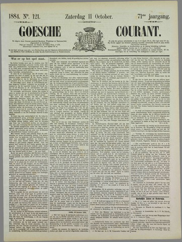 Goessche Courant 1884-10-11