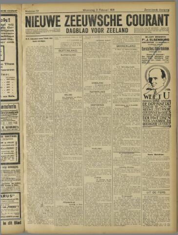 Nieuwe Zeeuwsche Courant 1921-02-09