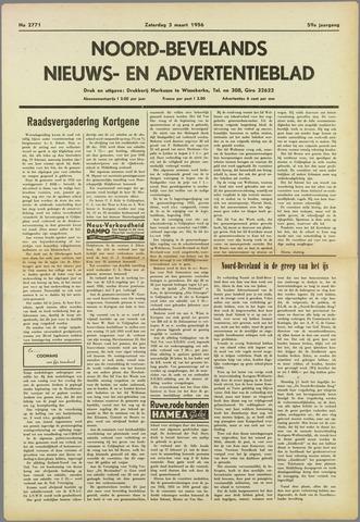 Noord-Bevelands Nieuws- en advertentieblad 1956-03-03