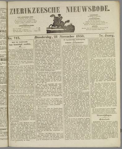 Zierikzeesche Nieuwsbode 1850-11-21