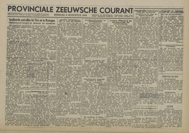 Provinciale Zeeuwse Courant 1944-08-05