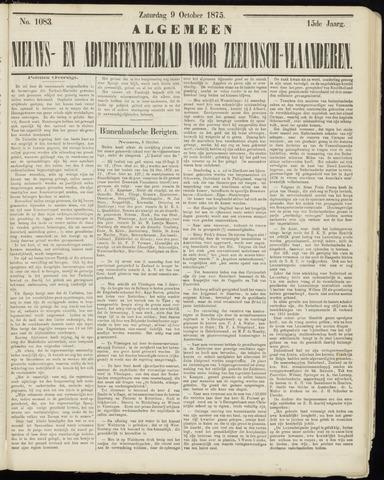 Ter Neuzensche Courant. Algemeen Nieuws- en Advertentieblad voor Zeeuwsch-Vlaanderen / Neuzensche Courant ... (idem) / (Algemeen) nieuws en advertentieblad voor Zeeuwsch-Vlaanderen 1875-10-09