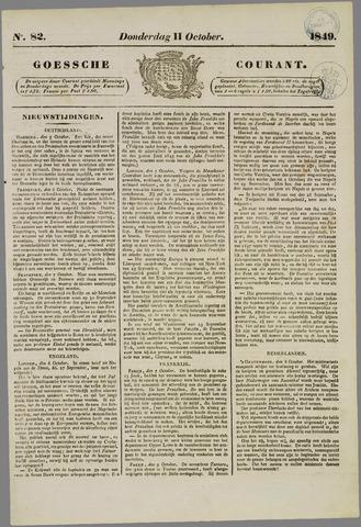 Goessche Courant 1849-10-11