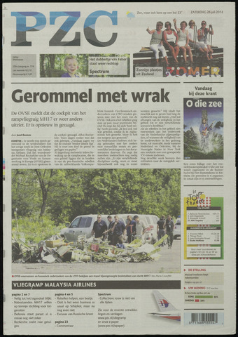 Provinciale Zeeuwse Courant 2014-07-26