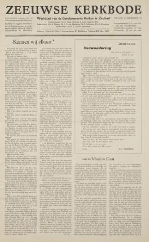 Zeeuwsche kerkbode, weekblad gewijd aan de belangen der gereformeerde kerken/ Zeeuwsch kerkblad 1959-12-11