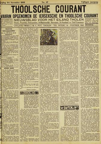 Ierseksche en Thoolsche Courant 1933-11-24