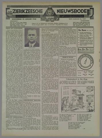 Zierikzeesche Nieuwsbode 1940-01-25