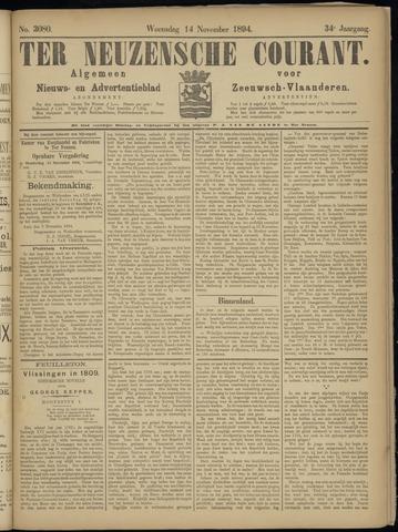 Ter Neuzensche Courant. Algemeen Nieuws- en Advertentieblad voor Zeeuwsch-Vlaanderen / Neuzensche Courant ... (idem) / (Algemeen) nieuws en advertentieblad voor Zeeuwsch-Vlaanderen 1894-11-14