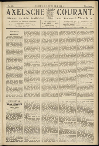 Axelsche Courant 1934-10-09