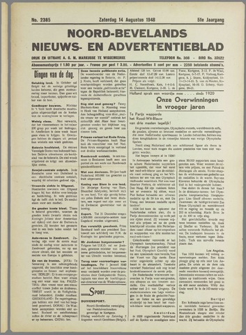Noord-Bevelands Nieuws- en advertentieblad 1948-08-14