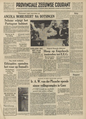 Provinciale Zeeuwse Courant 1961-04-14