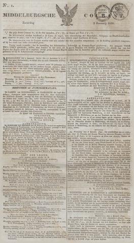 Middelburgsche Courant 1830