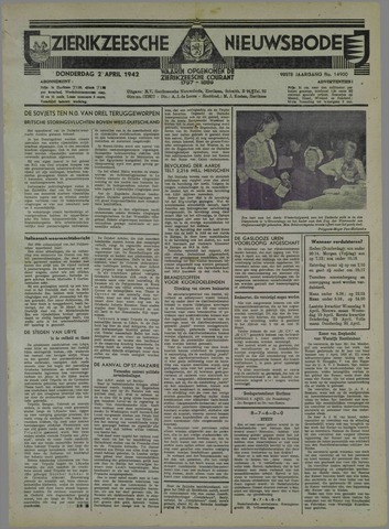 Zierikzeesche Nieuwsbode 1942-04-02