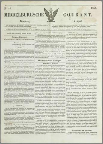 Middelburgsche Courant 1857-04-14