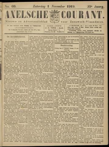 Axelsche Courant 1919-11-01