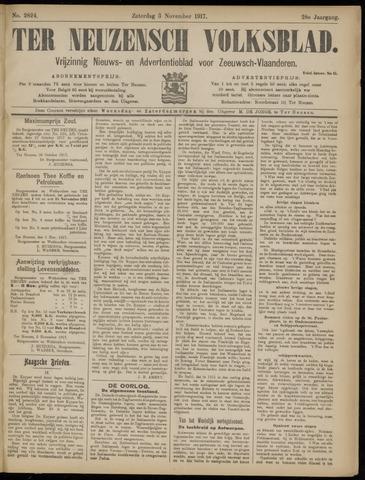 Ter Neuzensch Volksblad. Vrijzinnig nieuws- en advertentieblad voor Zeeuwsch- Vlaanderen / Zeeuwsch Nieuwsblad. Nieuws- en advertentieblad voor Zeeland 1917-11-03