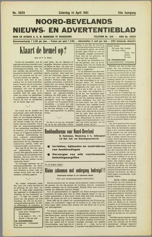 Noord-Bevelands Nieuws- en advertentieblad 1951-04-14