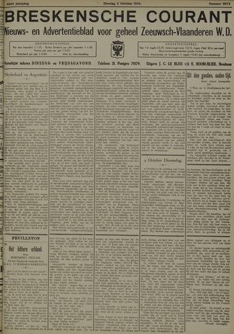 Breskensche Courant 1934-10-02
