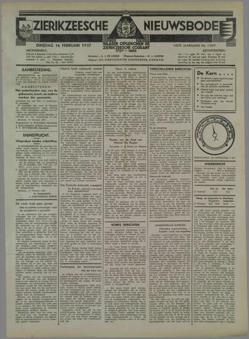Zierikzeesche Nieuwsbode 1937-02-16