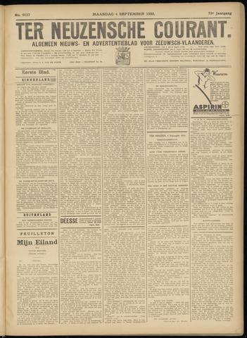 Ter Neuzensche Courant. Algemeen Nieuws- en Advertentieblad voor Zeeuwsch-Vlaanderen / Neuzensche Courant ... (idem) / (Algemeen) nieuws en advertentieblad voor Zeeuwsch-Vlaanderen 1933-09-04
