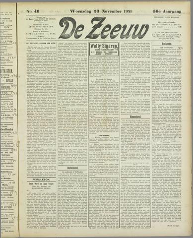 De Zeeuw. Christelijk-historisch nieuwsblad voor Zeeland 1921-11-23