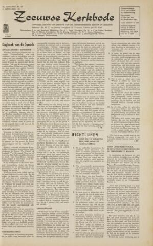 Zeeuwsche kerkbode, weekblad gewijd aan de belangen der gereformeerde kerken/ Zeeuwsch kerkblad 1963-09-13