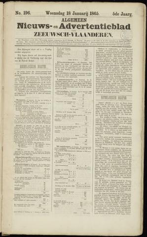 Ter Neuzensche Courant. Algemeen Nieuws- en Advertentieblad voor Zeeuwsch-Vlaanderen / Neuzensche Courant ... (idem) / (Algemeen) nieuws en advertentieblad voor Zeeuwsch-Vlaanderen 1865-01-18