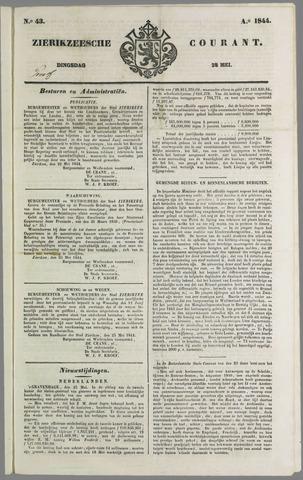 Zierikzeesche Courant 1844-05-28