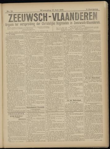 Luctor et Emergo. Antirevolutionair nieuws- en advertentieblad voor Zeeland / Zeeuwsch-Vlaanderen. Orgaan ter verspreiding van de christelijke beginselen in Zeeuwsch-Vlaanderen 1918-07-10