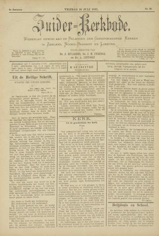 Zuider Kerkbode, Weekblad gewijd aan de belangen der gereformeerde kerken in Zeeland, Noord-Brabant en Limburg. 1897-07-16