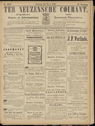 Ter Neuzensche Courant. Algemeen Nieuws- en Advertentieblad voor Zeeuwsch-Vlaanderen / Neuzensche Courant ... (idem) / (Algemeen) nieuws en advertentieblad voor Zeeuwsch-Vlaanderen 1900-03-24