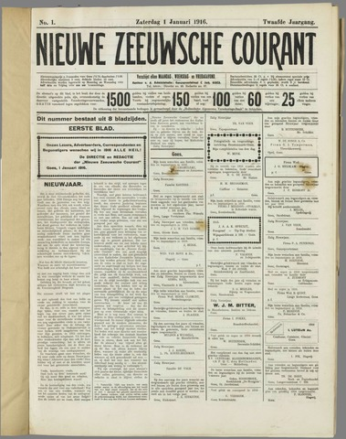 Nieuwe Zeeuwsche Courant 1916-01-01