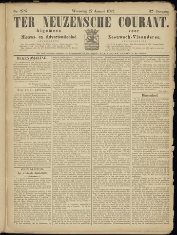 Ter Neuzensche Courant. Algemeen Nieuws- en Advertentieblad voor Zeeuwsch-Vlaanderen / Neuzensche Courant ... (idem) / (Algemeen) nieuws en advertentieblad voor Zeeuwsch-Vlaanderen 1892-01-27