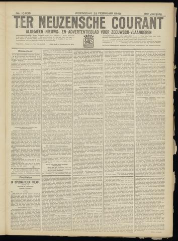 Ter Neuzensche Courant. Algemeen Nieuws- en Advertentieblad voor Zeeuwsch-Vlaanderen / Neuzensche Courant ... (idem) / (Algemeen) nieuws en advertentieblad voor Zeeuwsch-Vlaanderen 1940-02-28