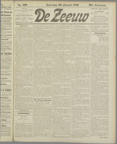 De Zeeuw. Christelijk-historisch nieuwsblad voor Zeeland 1916-01-29