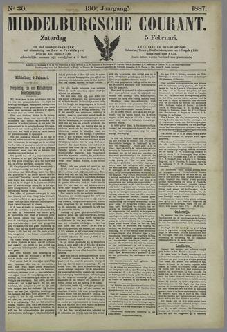 Middelburgsche Courant 1887-02-05