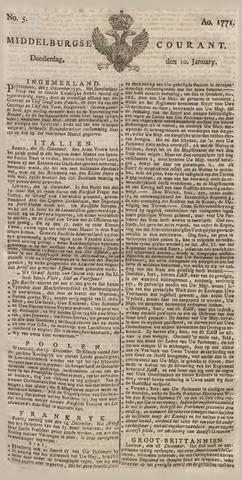 Middelburgsche Courant 1771-01-10