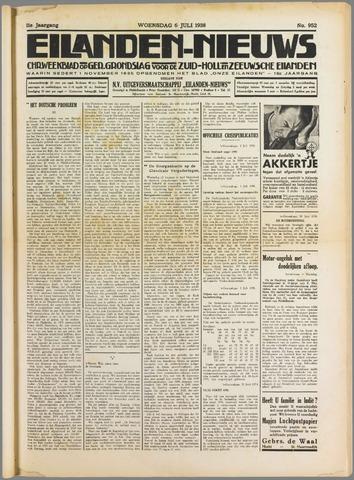 Eilanden-nieuws. Christelijk streekblad op gereformeerde grondslag 1938-07-06