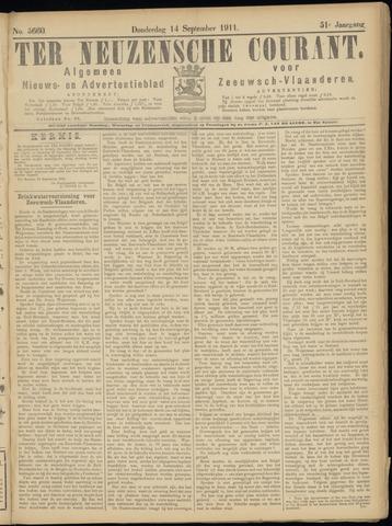 Ter Neuzensche Courant. Algemeen Nieuws- en Advertentieblad voor Zeeuwsch-Vlaanderen / Neuzensche Courant ... (idem) / (Algemeen) nieuws en advertentieblad voor Zeeuwsch-Vlaanderen 1911-09-14