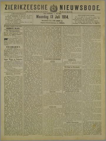 Zierikzeesche Nieuwsbode 1914-07-13