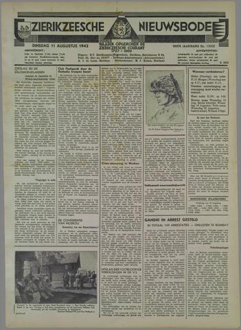 Zierikzeesche Nieuwsbode 1942-08-11
