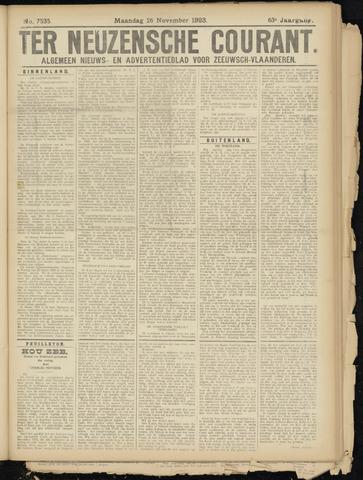 Ter Neuzensche Courant. Algemeen Nieuws- en Advertentieblad voor Zeeuwsch-Vlaanderen / Neuzensche Courant ... (idem) / (Algemeen) nieuws en advertentieblad voor Zeeuwsch-Vlaanderen 1923-11-26