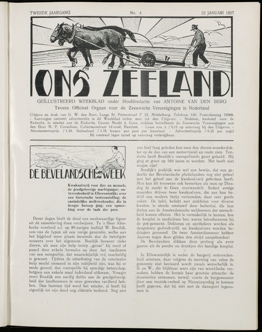 Ons Zeeland / Zeeuwsche editie 1927-01-22
