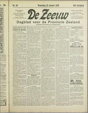 De Zeeuw. Christelijk-historisch nieuwsblad voor Zeeland 1929-01-23