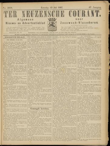Ter Neuzensche Courant. Algemeen Nieuws- en Advertentieblad voor Zeeuwsch-Vlaanderen / Neuzensche Courant ... (idem) / (Algemeen) nieuws en advertentieblad voor Zeeuwsch-Vlaanderen 1907-07-13