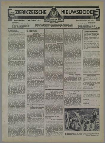 Zierikzeesche Nieuwsbode 1942-10-22